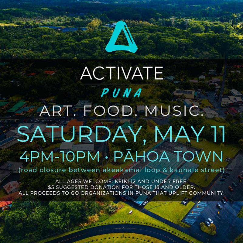 Activate Puna Event in Pahoa poster 2019